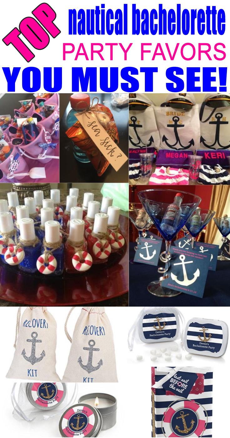 Nautical Bachelorette Party Favors
