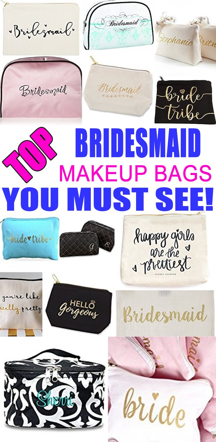 Bridesmaid Makeup Bags