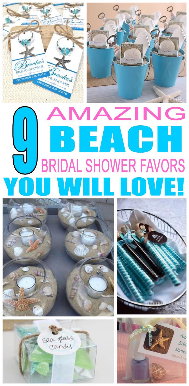 beach bridal shower favors