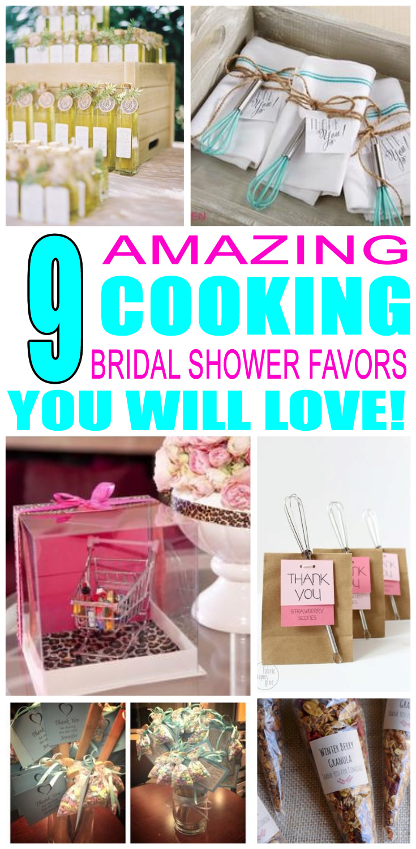 Cooking Bridal Shower Favors