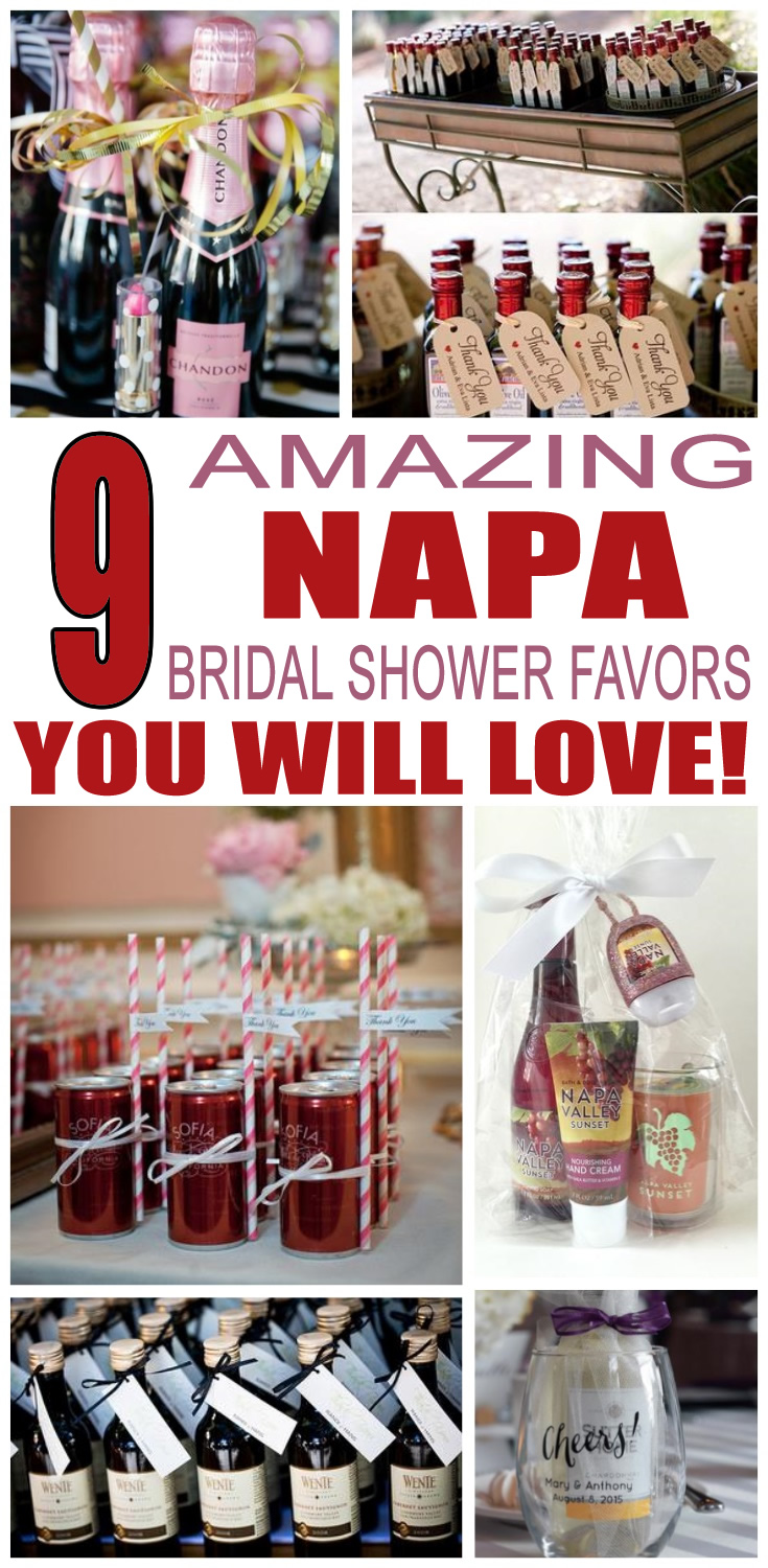 Napa Bridal Shower Favors