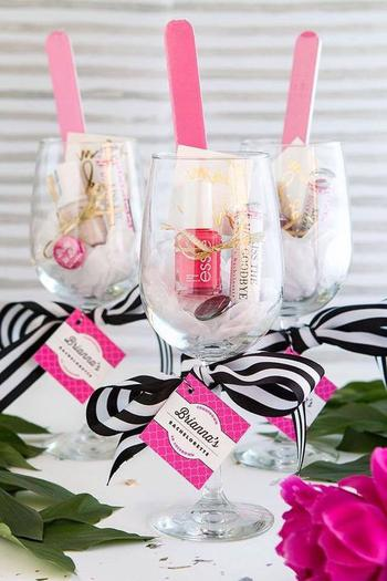 wine tasting bridal shower favor idea