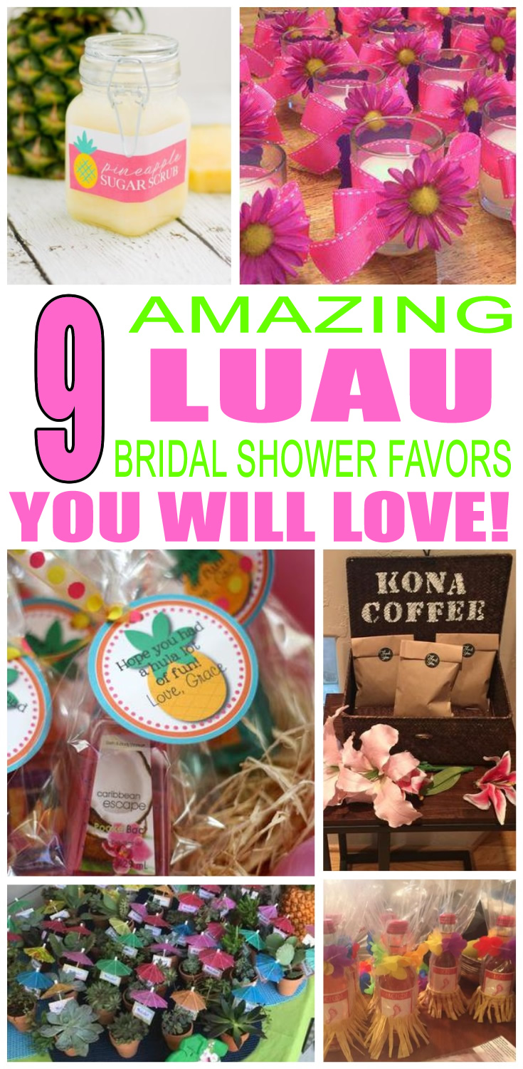 Luau Bridal Shower Favors