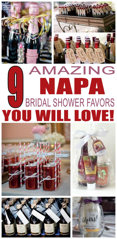 Napa Bridal Shower Favors