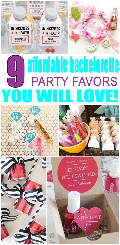 Affordable Bachelorette Party Favors