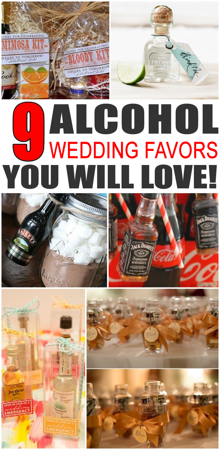 Alcohol Wedding Favors