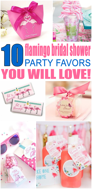 Flamingo Bridal Shower Favors