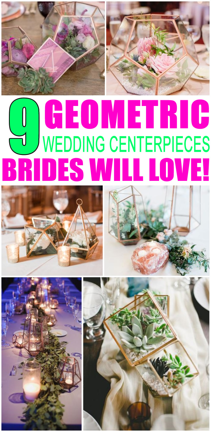 Geometric Wedding Centerpieces