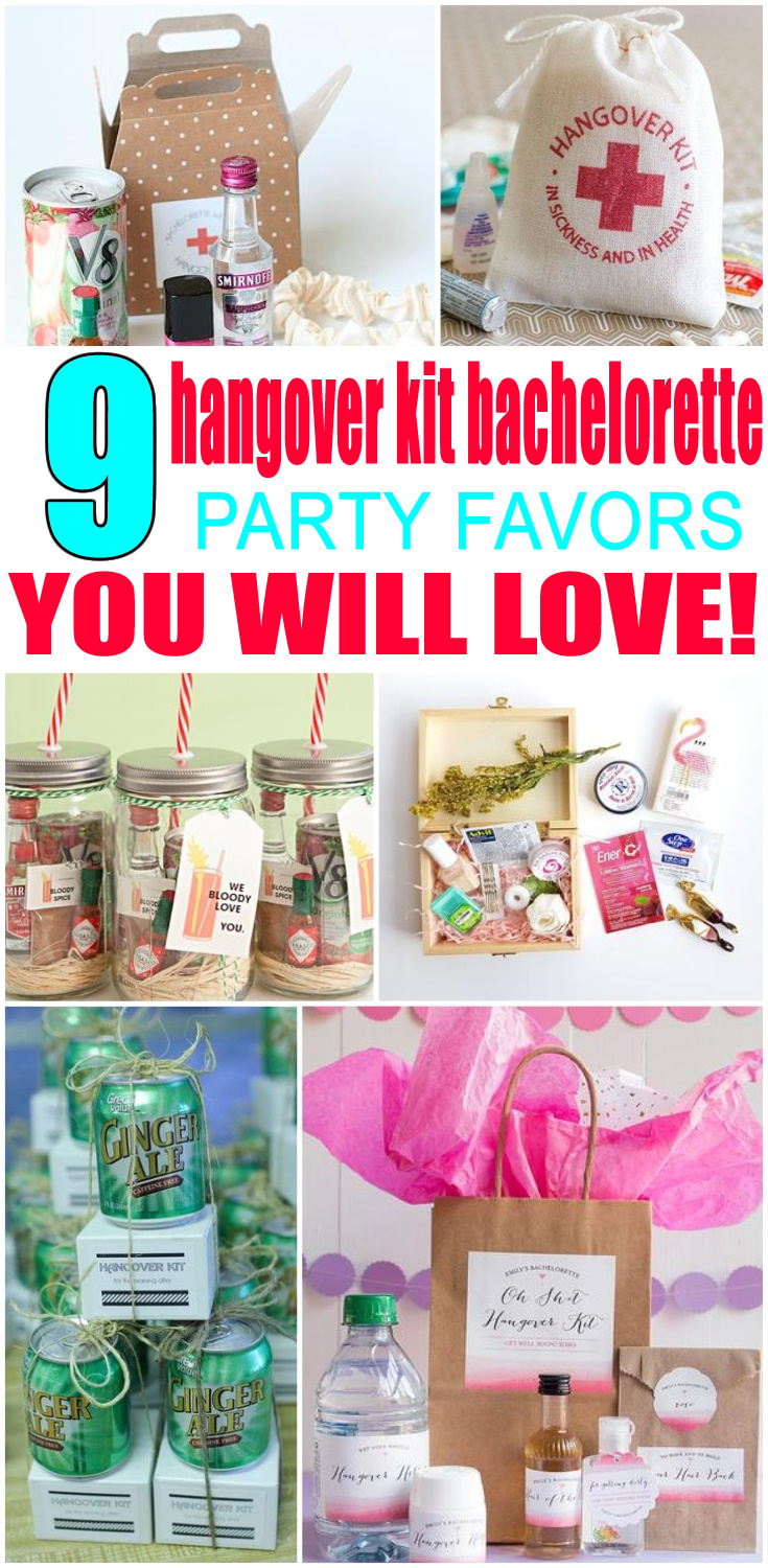 Hangover Kit Bachelorette Party Favors