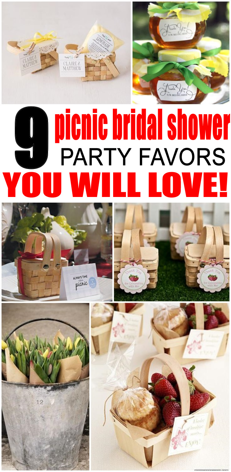 Picnic Bridal Party Favors