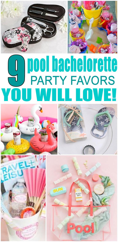 Pool Bachelorette Party Favors