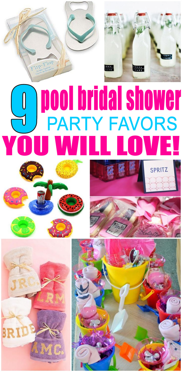 Pool Bridal Shower Favors