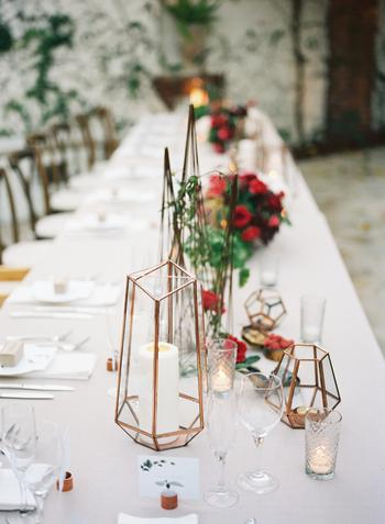 Geometric Wedding Centerpiece Candle Holders