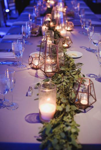 Geometric Wedding Centerpiece Table Runners