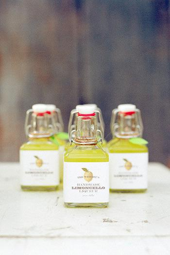 Handmade Limoncello Alcohol Favors