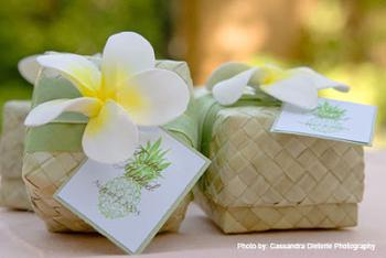 Hawaiian Wedding Shower Favor Box