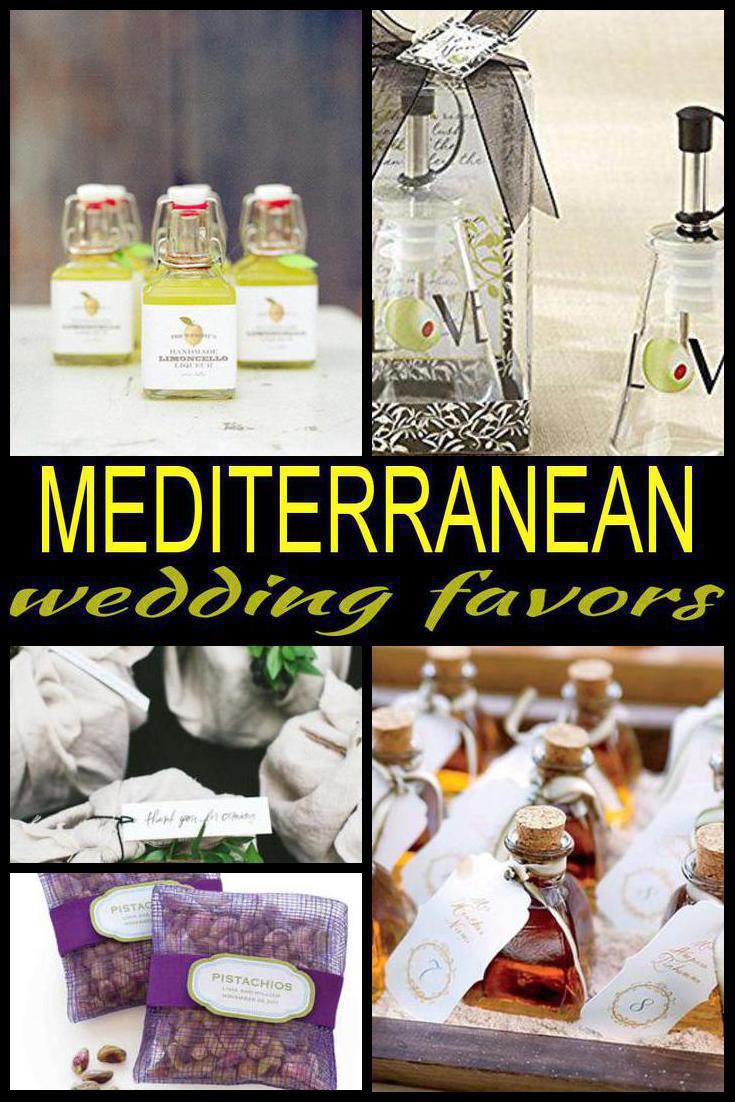 mediterranean wedding favors