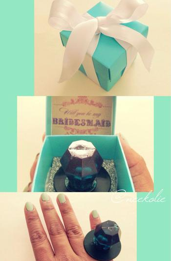 Tiffany Inspired Will You Be My Bridesmaid Ring Pop Boxes
