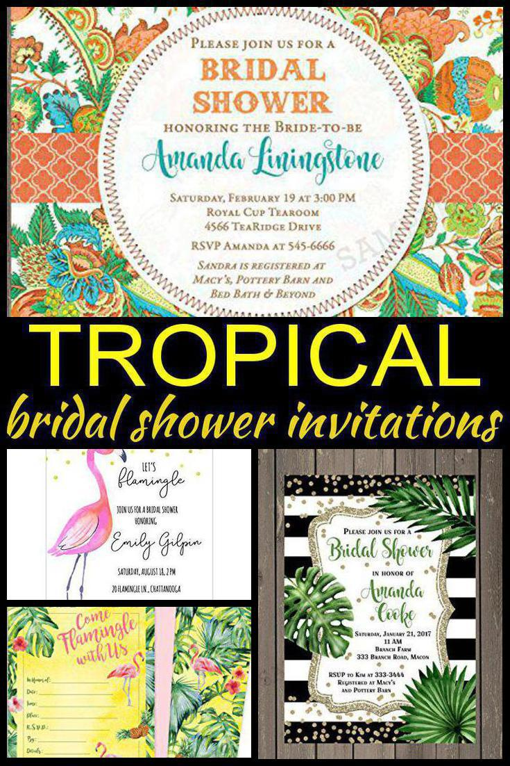 Tropical bridal shower invitations laughing pandas related post seashell bridal shower party favors filmwisefo