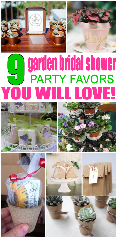 Garden Bridal Shower Favors