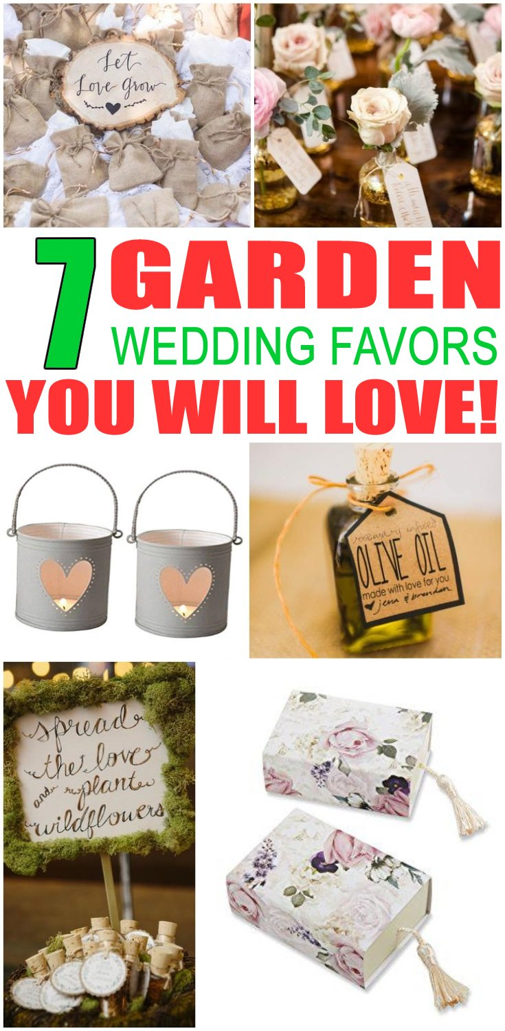 Garden Wedding Favors