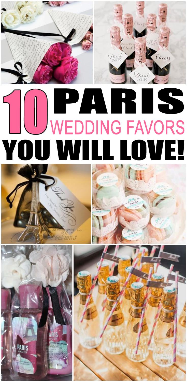 Paris Wedding Favors