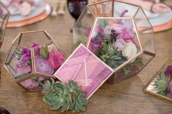 Geometric Wedding Centerpiece Floral Arrangements