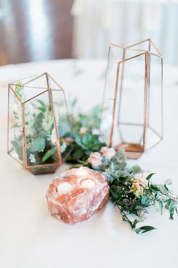 Geometric Wedding Centerpiece Inspiration