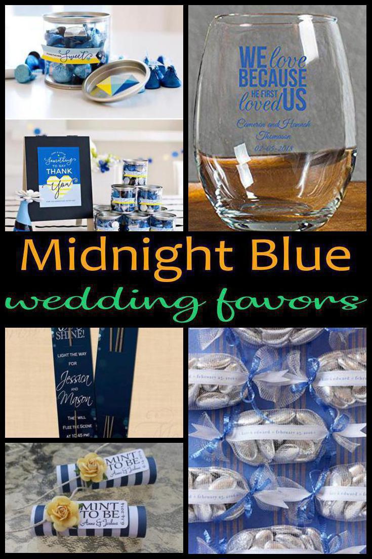 midnight blue wedding favors