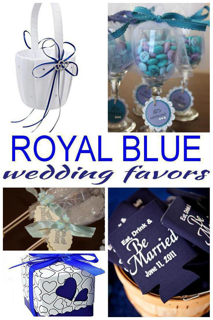 royal blue wedding favors