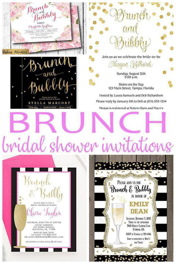 Brunch Bridal Shower Invitations Laughing Pandas