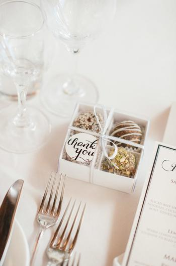 Chocolate Wedding Favor Packaging
