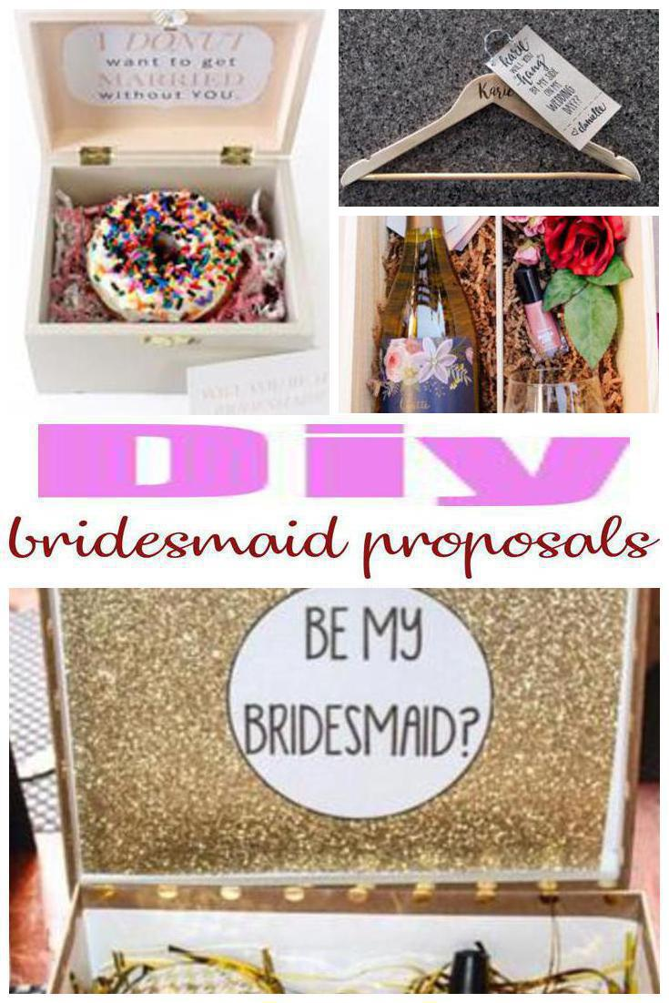 DIY bridesmaid proposals
