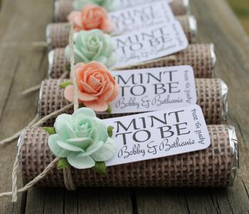 Diy Mint To Be Wedding Favors