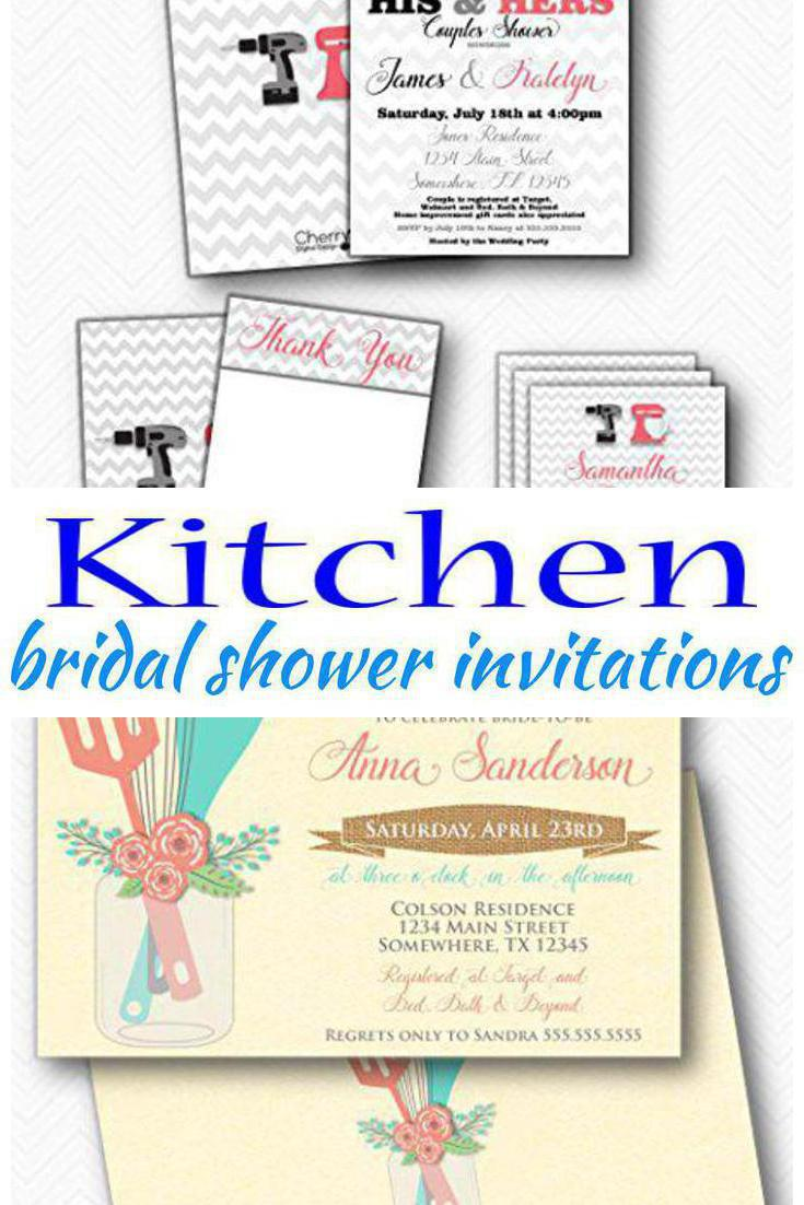 Kitchen Bridal Shower Invitations • 🐼 Laughing Pandas 🐼