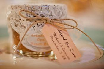 Lace Jam Wedding Favors