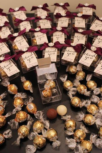 Lindor Lindt Chocolate Wedding Favors