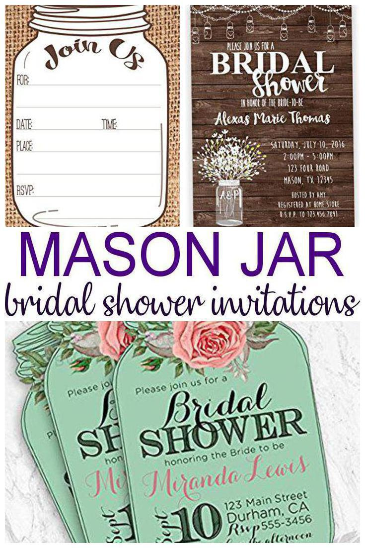Mason jar bridal shower invitations laughing pandas mason jar bridal shower invitations filmwisefo