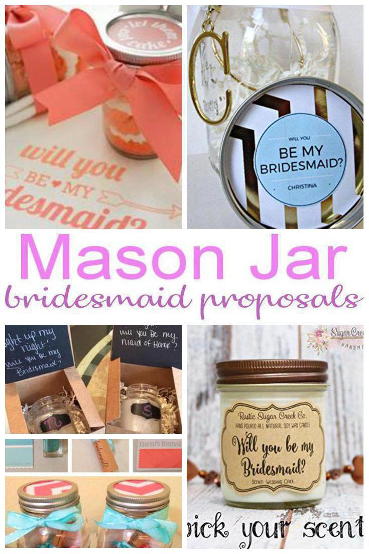 mason jar bridesmaid proposals