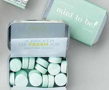 Mint To Be Tin Wedding Favor