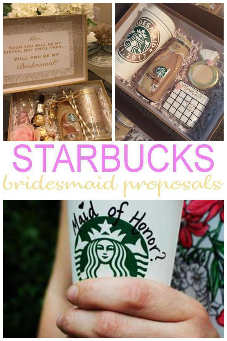 Starbucks bridesmaid proposals