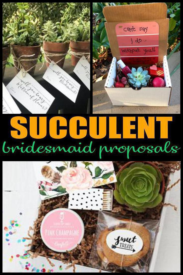 succulent bridesmaid proposals