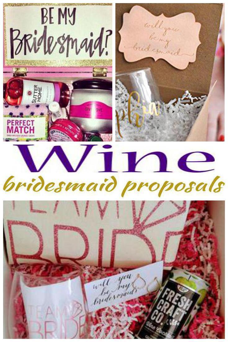 wine bridesmaid proposals