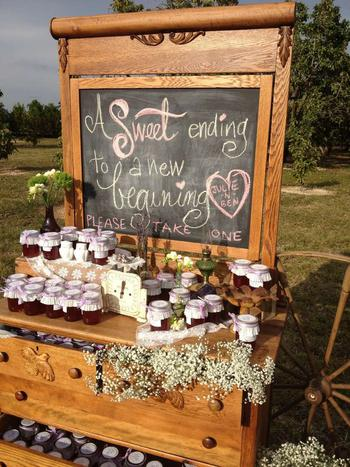 Jam Wedding Favor Signs