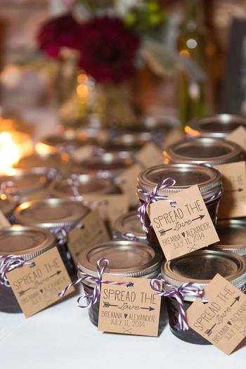 Mini Jam Wedding Favors