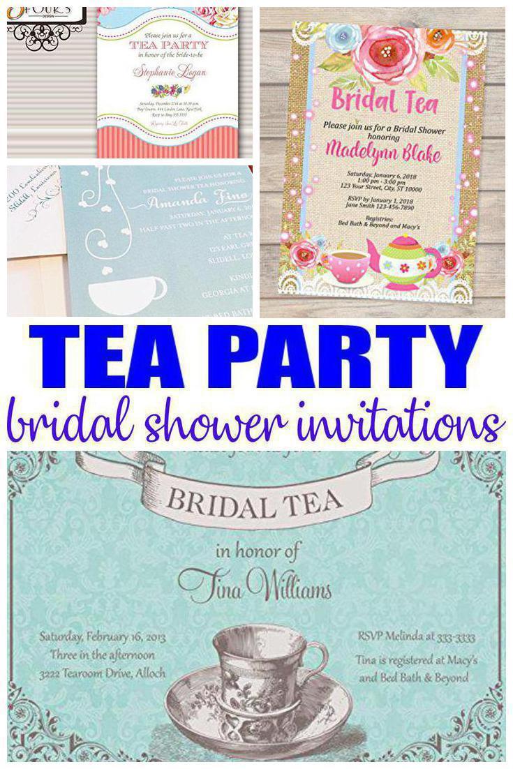tea bridal shower invitations