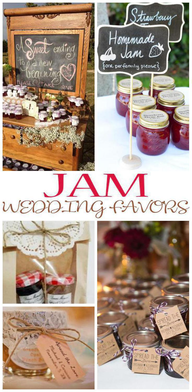 jam wedding favors